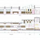 boutique rénovation architecture intérieure miroirs magasin vitrine