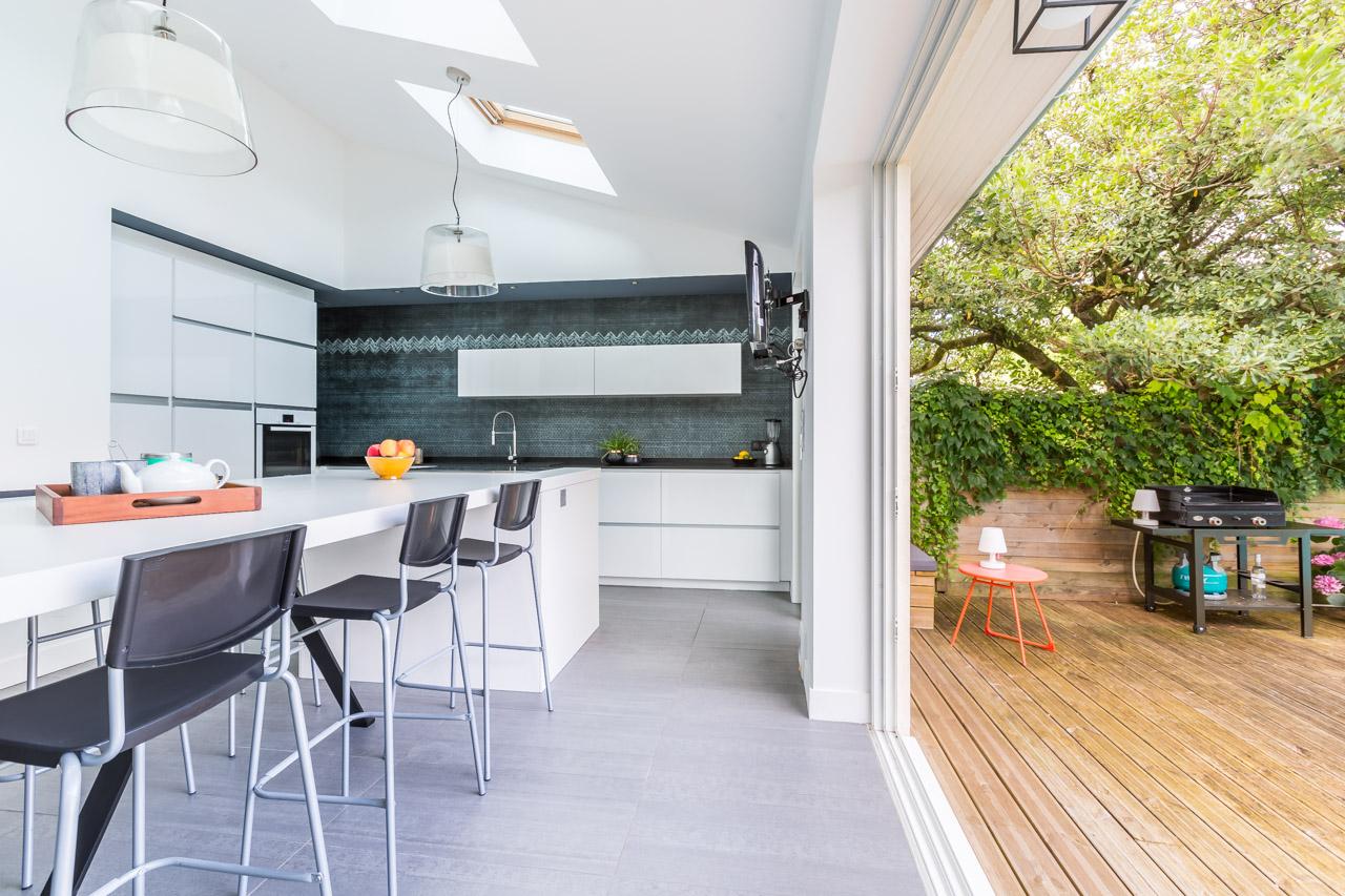 Extension agence soul sens for Cuisine ouverte sur veranda