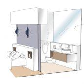 salle de bain esquisse architecture intérieure