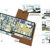 plans esquisse architecture intérieure