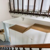 escalier meuble entrée
