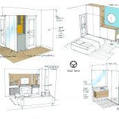 croquis dessins création ambiances aménagement appartient architecture intérieure