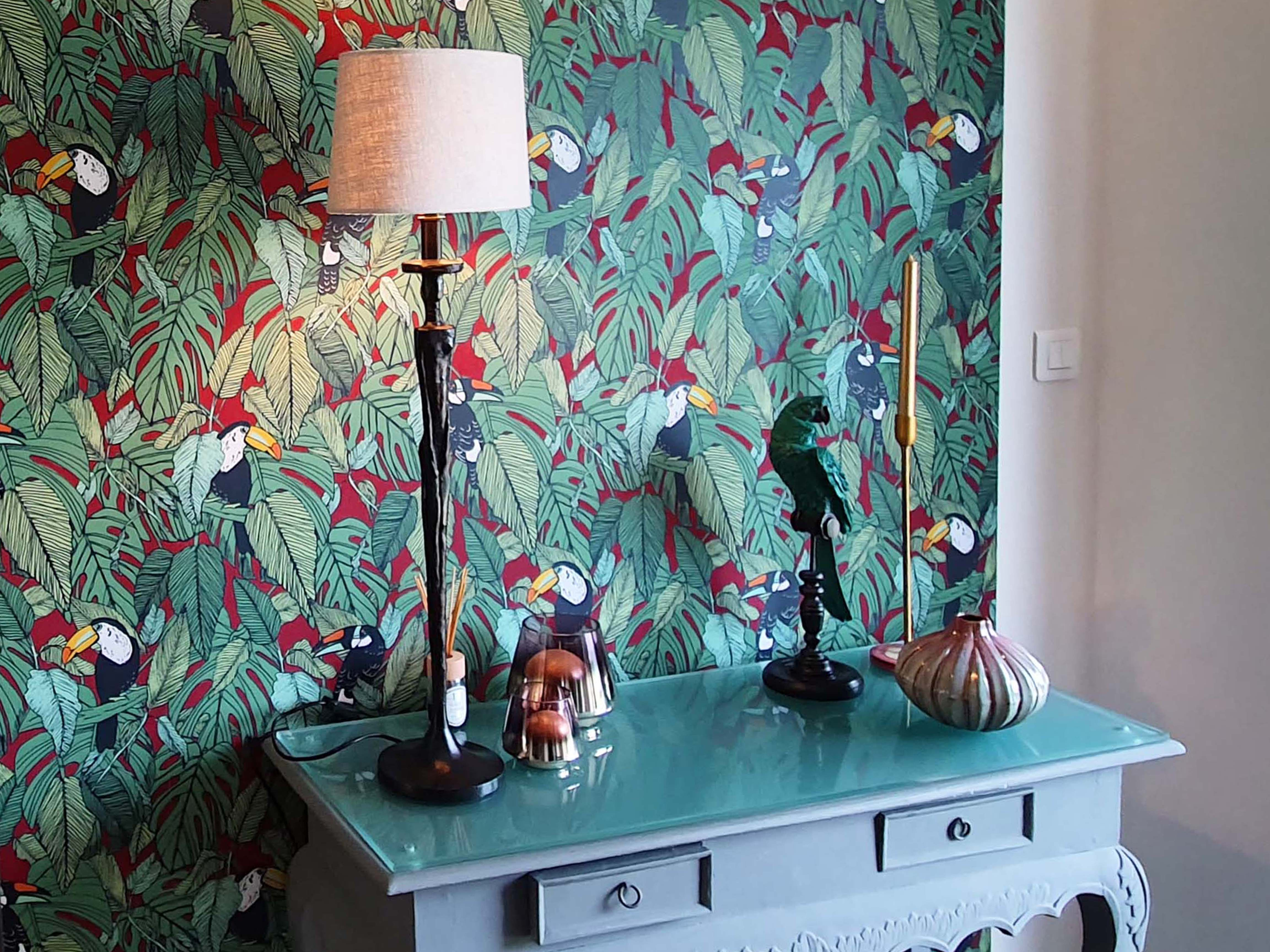 entrée papier peint architecture intérieure maison décoration
