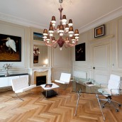 Showroom architecture intérieure mise en valeur valorisation décoration bordeaux parquet lumière société bureaux