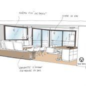 salon esquisse architecture intérieure salon