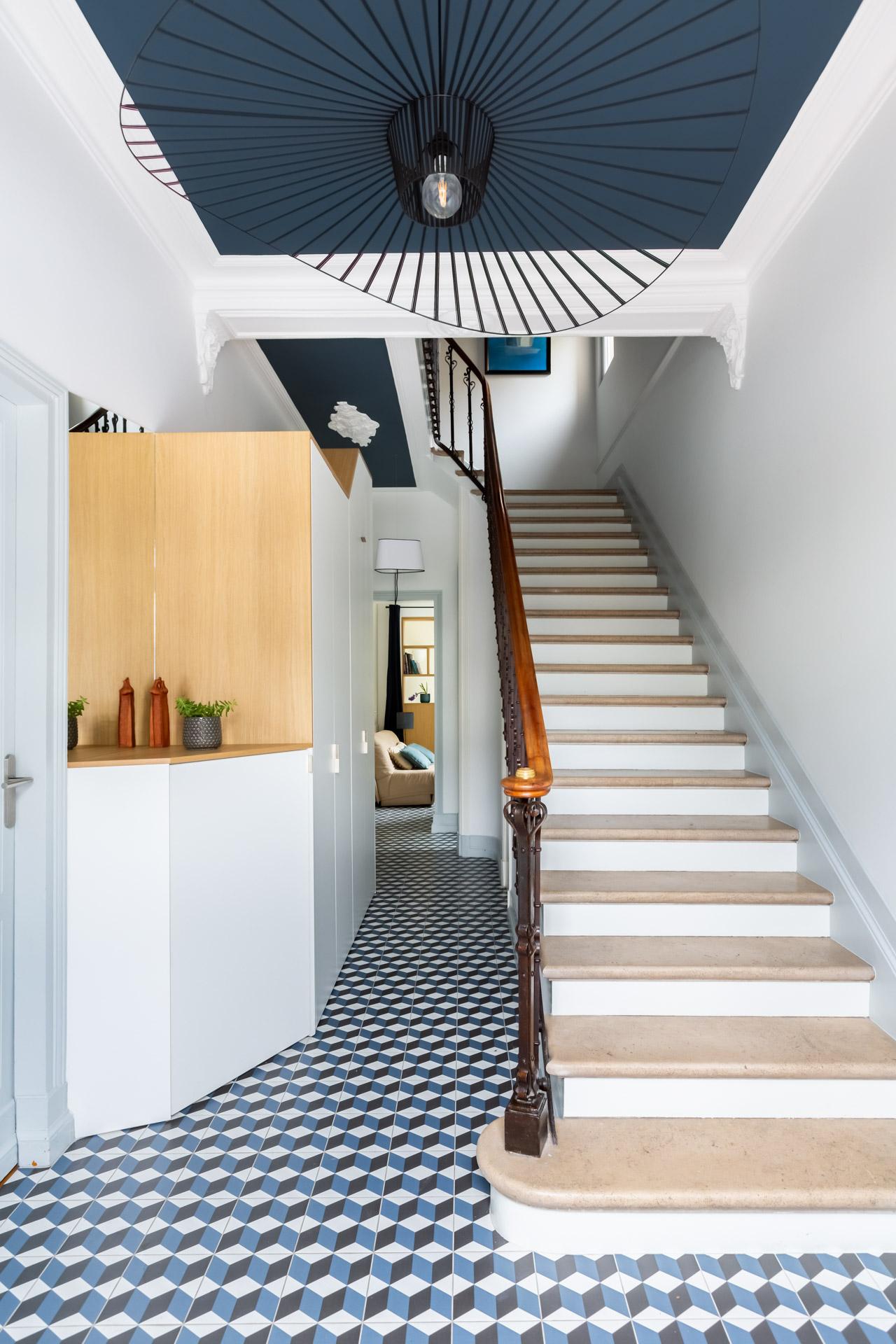 Luminaire Pour Couloir D Entrée rénovation entrée maison latour * architecture intérieure